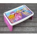 Meja plastik lesehan untuk anak usia 3 tahun keatas motif princess merk Napolly 3
