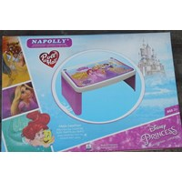 Meja plastik lesehan untuk anak usia 3 tahun keatas motif princess merk Napolly 1