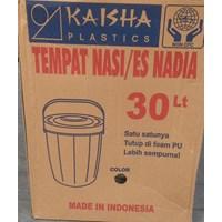 produk plastik rumah tangga Tempat nasi/es batu (Plastic Rice Ice Bucket ) Nadia 30 liter merk Kaisha  1