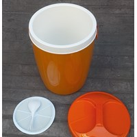 Distributor produk plastik rumah tangga Tempat nasi/es batu (Plastic Rice Ice Bucket ) Nadia 30 liter merk Kaisha  3