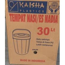 produk plastik rumah tangga Tempat nasi/es batu (Plastic Rice Ice Bucket ) Nadia 30 liter merk Kaisha