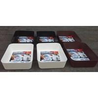 Distributor produk plastik rumah tangga Baki Plastik tempat peralatan atau Display Tray Medium 3592 Lucky Star 3