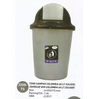produk plastik rumah tangga Tong Sampah plastik colombia 60 liter Silver 3208 TS Lucky Star 1