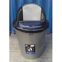 Beli produk plastik rumah tangga Tong Sampah plastik colombia 60 liter Silver 3208 TS Lucky Star 4