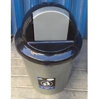 Distributor produk plastik rumah tangga Tong Sampah plastik colombia 60 liter Silver 3208 TS Lucky Star 3