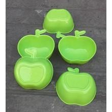 produk plastik rumah tangga Mangkok plastik bentuk apel warna hijau MA7048 golden Sunkist.