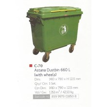 produk plastik rumah tangga tong sampah plastik Astana Dustbin 660 liter C70 lionStar
