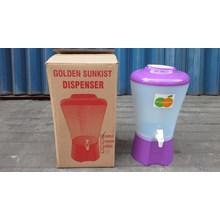 Dispenser air plastik ungu TAA1063 merk golden sunkist