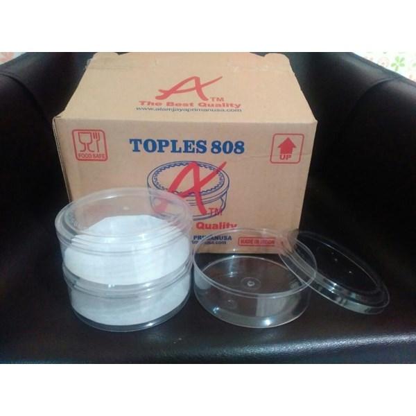 Toples plastik mika bulat 0.25 kg kue kering merk Atm