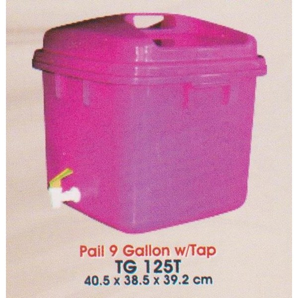 produk plastik rumah tangga Tong plastik segi 9 galon dengan kran merk multiplast