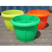 Beli Pot gantung plastik bulat motif belimbing warna warni cerah 5530 DX merk Lucky star 4