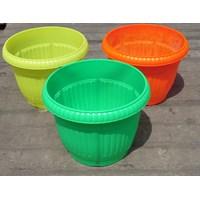 Distributor Pot gantung plastik bulat motif belimbing warna warni cerah 5530 DX merk Lucky star 3
