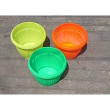 Pot gantung plastik bulat motif belimbing warna wa