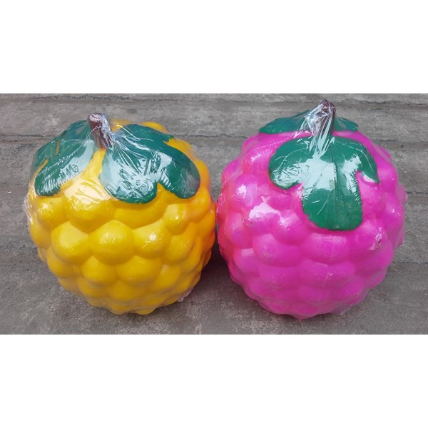 produk plastik lainnya Celengan plastik model buah anggur warna warni merk IKIMURA