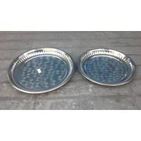 Jual krat baki dan palet Nampan bulat stainless ukuran 35 cm dan 40 cm untuk hadiah umroh atau haji