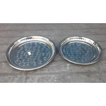 krat baki dan palet Nampan bulat stainless ukuran 35 cm dan 40 cm untuk hadiah umroh atau haji