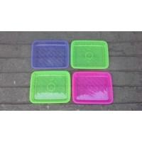 Nampan segi plastik transparant no 1 merk calista. 1