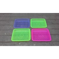 Jual Nampan segi plastik transparant no 1 merk calista. 2