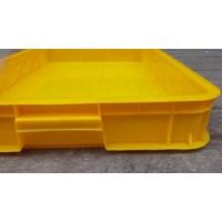 Distributor Keranjang plastik buntu b011 merk top p62 L42 tinggi 10 cm kuning 3