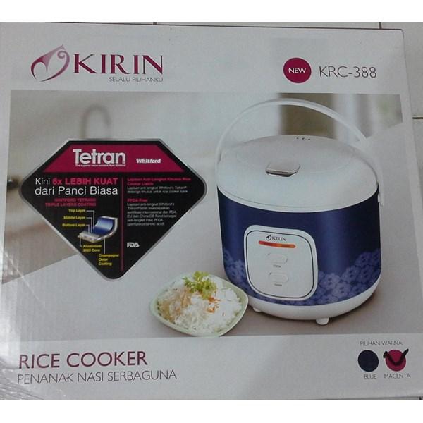 alat dapur lainnya Rice cooker penanak nasi serbaguna kode KRC 388 merk kirin