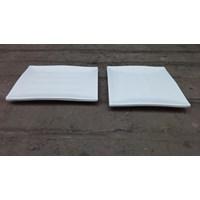 piring saji melamin segi tempura 8 inch P2010-8 merk Vanda warna putih Murah 5