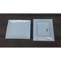 Distributor piring saji melamin segi tempura 8 inch P2010-8 merk Vanda warna putih 3