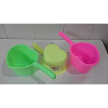 plastic scoop model love heart colorful color DS b