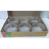 round plastic mica jar for pastry when idul fitri Cheap 5