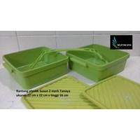 Distributor Rantang plastik segi Susun 2 merk tanaya 3