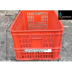 Keranjang plastik industri krat lubang multiguna merk JL