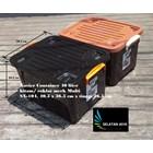 Box plastik xavier container  office 40 liter hitam coklat SX 104 merk multi 1