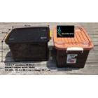 Box plastik xavier container  office 40 liter hitam coklat SX 104 merk multi 4