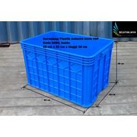 Distributor Keranjang Plastik Industri krat multiguna kode B088 buntu merk TOP 3