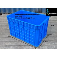 Jual Keranjang Plastik Industri krat multiguna kode B088 buntu merk TOP 2