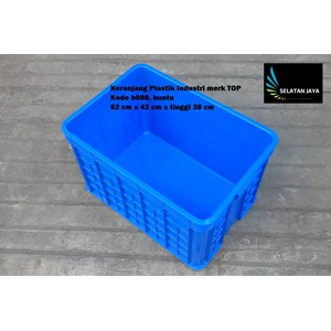 Keranjang Plastik Industri krat multiguna kode B088 buntu merk TOP