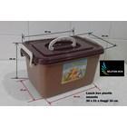 produk plastik rumah tangga Lunch box Amanda tempat selamatan syukuran plastik coklat 1