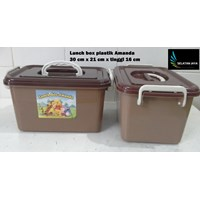 Jual produk plastik rumah tangga Lunch box Amanda tempat selamatan syukuran plastik coklat 2