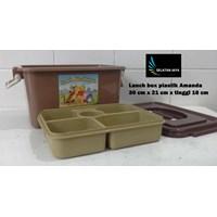 produk plastik rumah tangga Lunch box Amanda tempat selamatan syukuran plastik coklat Murah 5