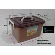 produk plastik rumah tangga Lunch box Amanda tempat selamatan syukuran plastik coklat