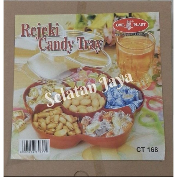 Candy tray CT 168 merk OWL plast atau Toples plastik