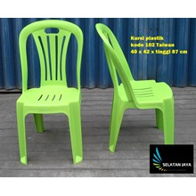 Plastic dinner chair code 102 Taiwan brand bright green plastic