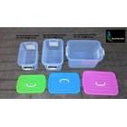 produk plastik rumah tangga box plastik kode 1310 1311 dan 1312  Gajah tutup pink biru hijau 5
