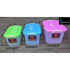produk plastik rumah tangga box plastik kode 1310 1311 dan 1312  Gajah tutup pink biru hijau 1