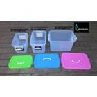 produk plastik rumah tangga box plastik kode 1310 1311 dan 1312  Gajah tutup pink biru hijau 3