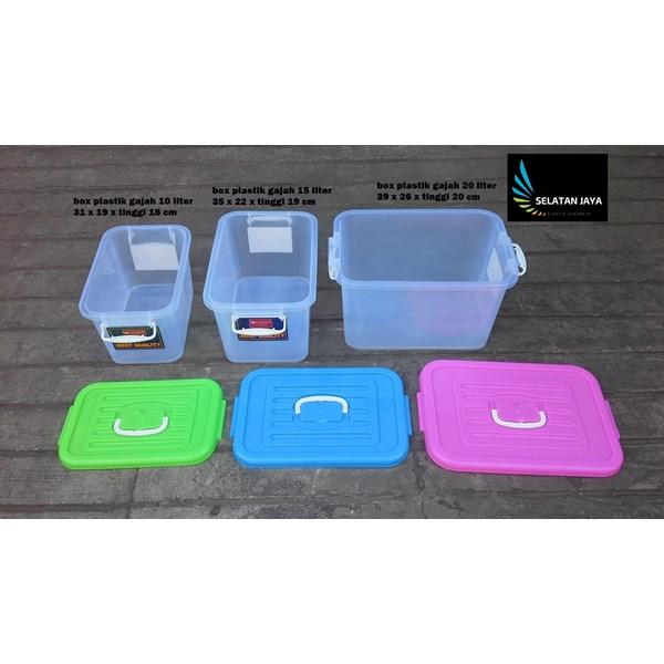 produk plastik rumah tangga box plastik kode 1310 1311 dan 1312  Gajah tutup pink biru hijau