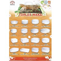 Toples plastik merk Waka untuk tempat wadah kue kering