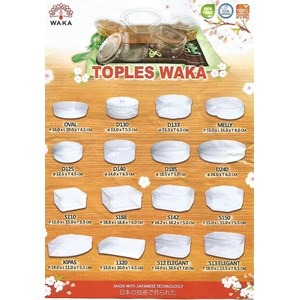 Waka brand plastic jar for container place