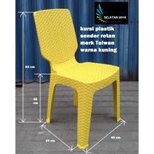 plastic chair rattan Taiwan brand yellow color