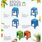 Kursi plastik bangku tinggi promosi Neoplas kuning hijau merah biru 2