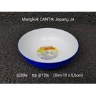 Mangkok plastik merk Cantik motif jepang 2